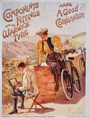 Titre : Components and the fittings Warwick tyre. Make a good conbination : [affiche] / George Roux Auteur : Roux, George (1854-1929). Illustrateur Éditeur : [s.n.][s.n.] Éditeur : Hudson & Kearns, litho (London) Date d'édition : 1898 Sujet : Bicyclettes Sujet : Transports et communications Sujet : Cycles et motocycles Type : image fixe Type : estampe Format : 1 est. : lithographie, coul. ; 100 x 77 cm Format : image/jpeg Format : Nombre total de vues : 1 Description : Affiche Droits : domaine public Identifiant : ark:/12148/btv1b9008500h Source : Bibliothèque nationale de France, ENT DO-1 (ROUX,George)-ROUL Notice du catalogue : http://catalogue.bnf.fr/ark:/12148/cb402845731 Provenance : Bibliothèque nationale de France Date de mise en ligne : 18/04/2011