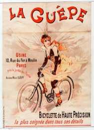 Titre : La Guêpe... bicyclette de haute précision... : [affiche] / [non identifié] Éditeur : [s.n.][s.n.] Éditeur : [Charles Verneau] ([Paris]) Date d'édition : 1900 Sujet : Bicyclettes -- Publicité Sujet : Cycles et motocycles Type : image fixe Type : estampe Langue : français Format : 1 est. : lithogr. en coul. ; 129 x 93 cm Format : image/jpeg Format : Nombre total de vues : 1 Description : Affiche Droits : domaine public Identifiant : ark:/12148/btv1b90127849 Source : Bibliothèque nationale de France, ENT DN-1 (VERNEAU,Charles/2)-ROUL Notice du catalogue : http://catalogue.bnf.fr/ark:/12148/cb398411877 Provenance : Bibliothèque nationale de France Date de mise en ligne : 30/04/2011