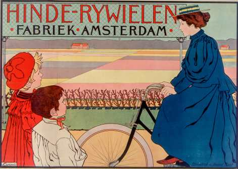 Titre : Hinde-Rywielen Fabriek-Amsterdam : [affiche] / [V. Caspel] Auteur : Caspel, Johann Georg van (1870-1928). Illustrateur Éditeur : [s.n.][s.n.] Éditeur : [s.n.] ([Amsterdam]) Date d'édition : 1905 Sujet : Bicyclettes -- Publicité Sujet : Cycles et motocycles Type : image fixe Type : estampe Langue : néerlandais Format : 1 est. : lithogr. en coul. ; 80 x 108 cm Format : image/jpeg Format : Nombre total de vues : 1 Description : Affiche Droits : domaine public Identifiant : ark:/12148/btv1b9016600h Source : Bibliothèque nationale de France, ENT DO-1 (CASPEL,V.)-FT6 Notice du catalogue : http://catalogue.bnf.fr/ark:/12148/cb39835992s Provenance : Bibliothèque nationale de France Date de mise en ligne : 14/03/2011