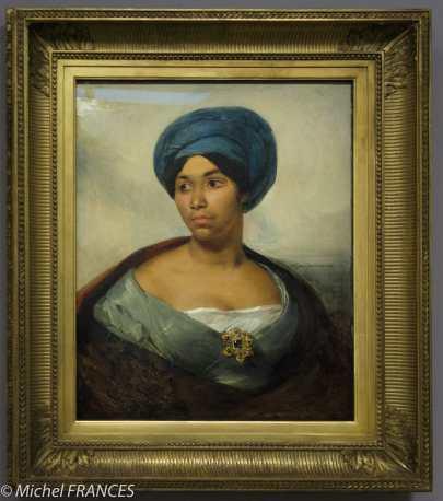 expo Le modèle noir - Eugène Delacroix - Portrait d'une femme au turban bleu - 1827-1828