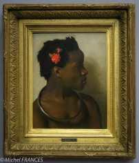 expo Le modèle noir - Jean-Léon Gérôme - Étude d'après un modèle féminin pour À vendre, esclaves au Caire - vers 1872