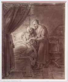 Musée Cognacq-Jay - Génération en Révolution - Anne-Louis Girodet de Roucy-Trioson - Michel-Ange soignant son domestique malade - 1813