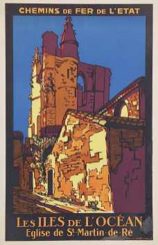 Titre(s) Chemins de fer de l'Etat. Les iles de l'océan, église de St-Martin-de- Ré : [affiche] / Jean Chaboseau Auteur(s) Chaboseau, ean [Illustrateur] Editeur(s), Imprimeur(s) [S.l.] : [éditeur inconnu], 1930 Description 1 est. (affiche) : lithogr., en coul. ; 100 x 62 cm Note(s) spécifique(s) Signée et datée en bas à gauche Sujet(s) Chemins de fer de l'Etat (France) -- Publicité Affiches touristiques -- France -- 1900-1945 Compagnies de chemin de fer -- Publicité -- 1900-1945 Saint-Martin-de-Ré (Charente-Maritime) -- Église Saint-Martin Vues d'architecture Mot(s)-clé(s) tourisme et voyages Cote de l'exemplaire numérisé AF 222795 MF Date de mise en ligne 13/04/2012 Droits d'accès Consultable sans restrictions Droits Reproduction réservée à un usage strictement privé. Mention de la source obligatoire. Source Ville de Paris / Bibliothèque Forney