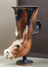 Vase en forme de tête d'âne