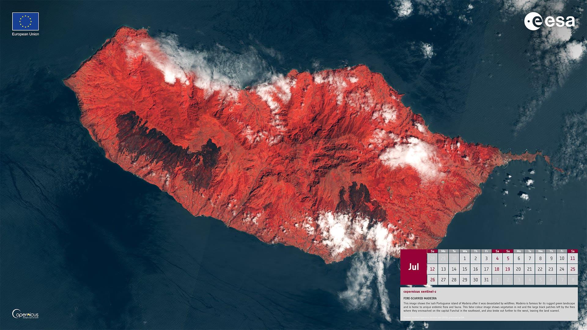 Juillet 2020 - Traces des incendies sur l'île de Madère (Portugal)