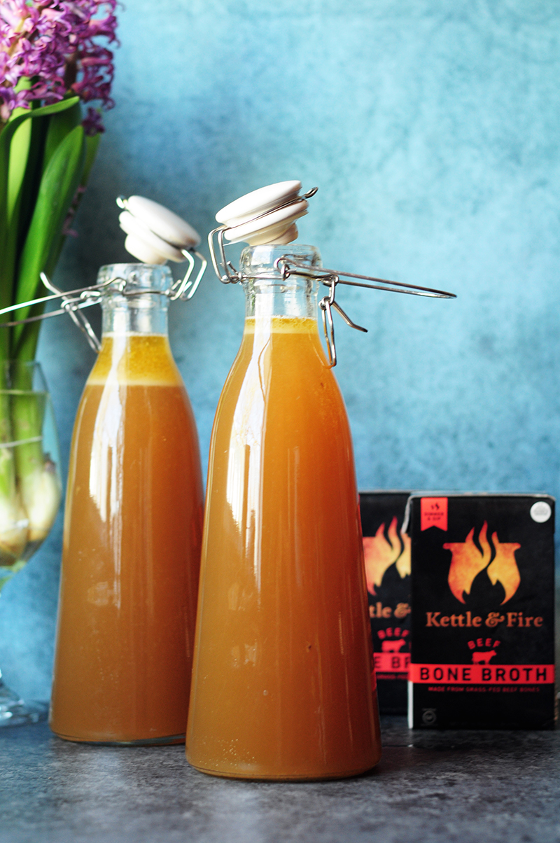 Here's Kettle & Firetried andtrueslow cooker beef bone broth recipe using high-quality, grass-fed bones for the ultimate nutrient-rich bone broth.