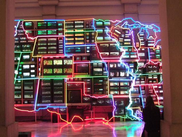 Electronic Superhighway: Continental U.S., Alaska, Hawaii, 1996