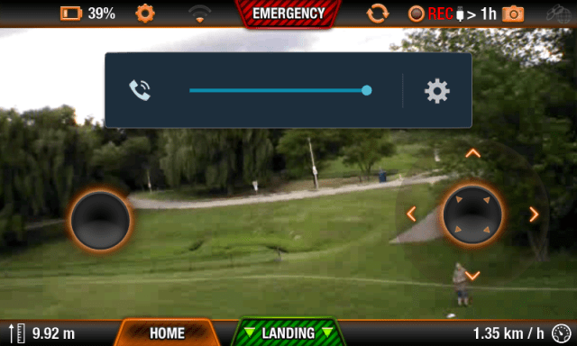 Sample screenshot of the Freeflight Android app