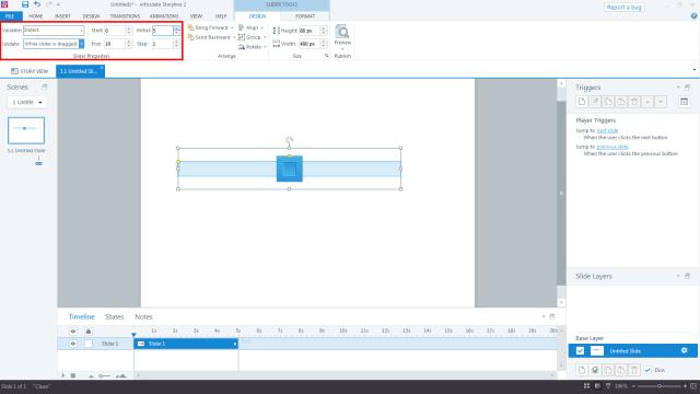Storyline 2 Slider Controls: Parameter Settings