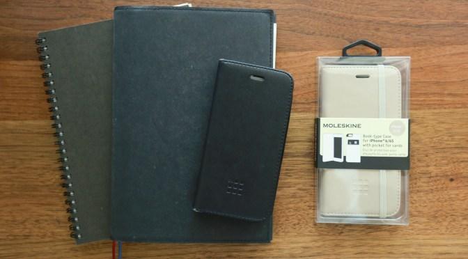お気に入りのスケジュール帳とiPhoneケース(注。地味です)