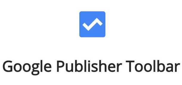شعار إضافة google publisher toolbar