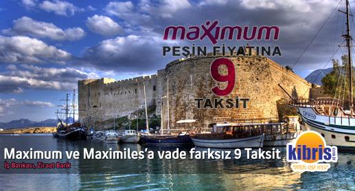 kıbrıs Otellerinde Maximum ve Maximiles Kartlara 9 taksit