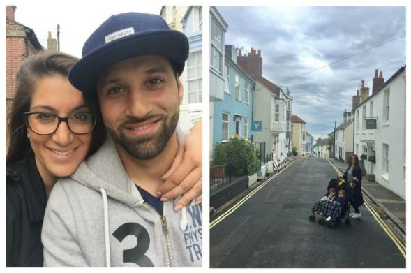 Family exploring isle of wight
