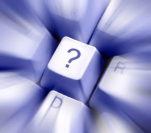 Question Mark Key on Keyboard