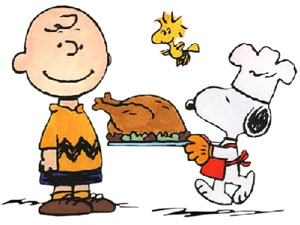 Charlie Brown, Woodstock, Snoopy On Thanksgiving
