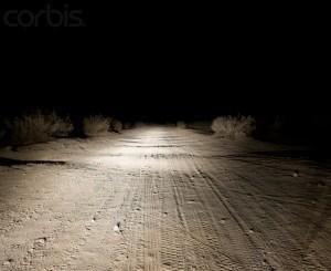 Dirt Road at Night