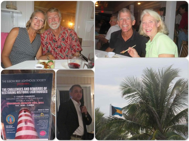 Our evening was educational and enjoyable as we enjoyed the company of Ginny and Mark, new friends on a boat moored near us.