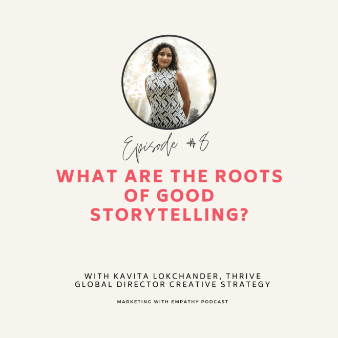 What are the roots of good storytelling with Kavita Lokchander image smiling.