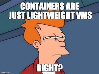 Resultado de imagem para container virtual machine meme