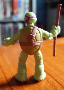 TMNT Blind Bag Figure - Donatello Back