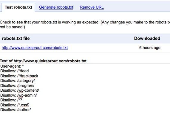 google webmaster tools crawler access
