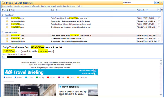 email marketing preview pane