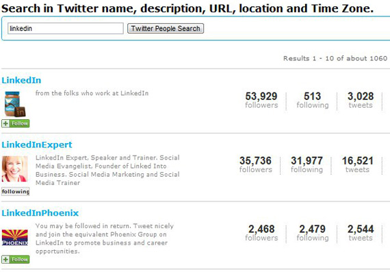 twittercounter search results