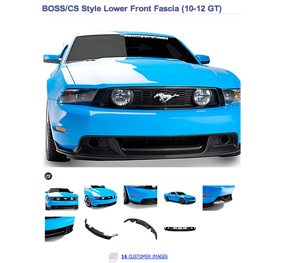 American Muscle Ecommerce example