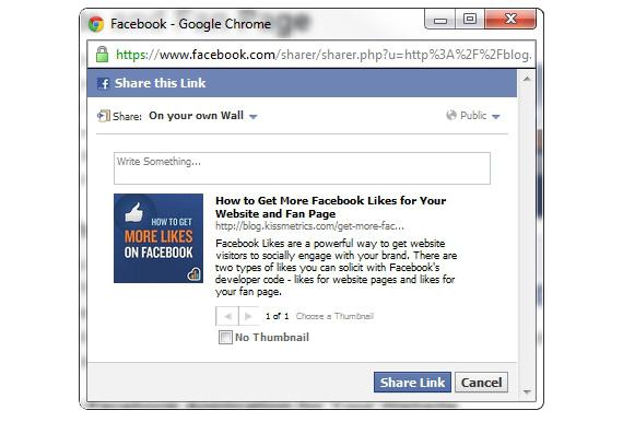 facebook botão de compartilhamento