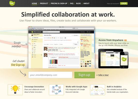 the flowr.com home page
