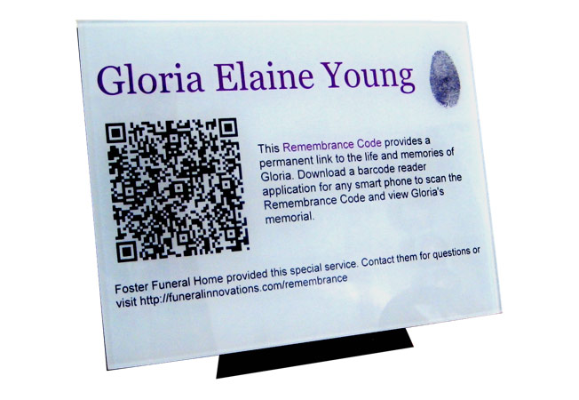 Funeral QR Codes