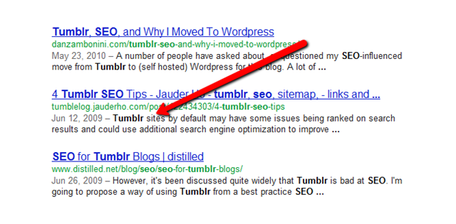 Optimize Tumblr  Meta Description