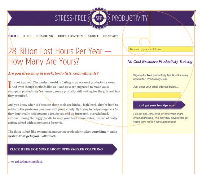 Golden Spiral Website Design