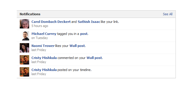 new facebook pages admin panel notifications