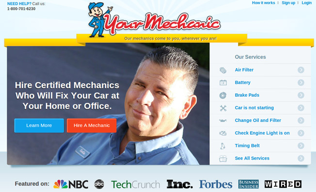 your mechanic home page