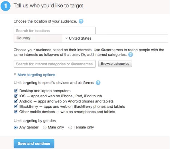 twitter advertising targeting options
