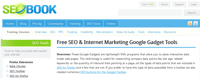 seo book tools