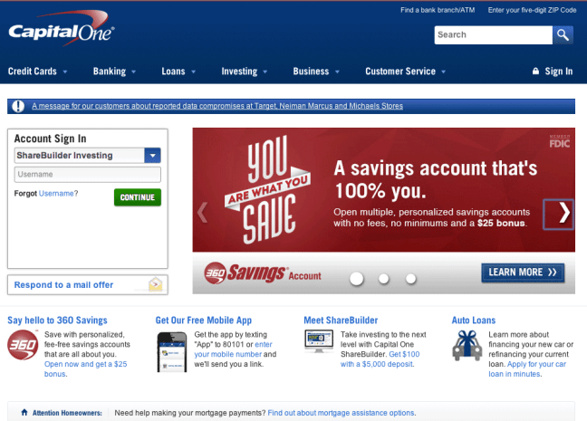 8 capital one website