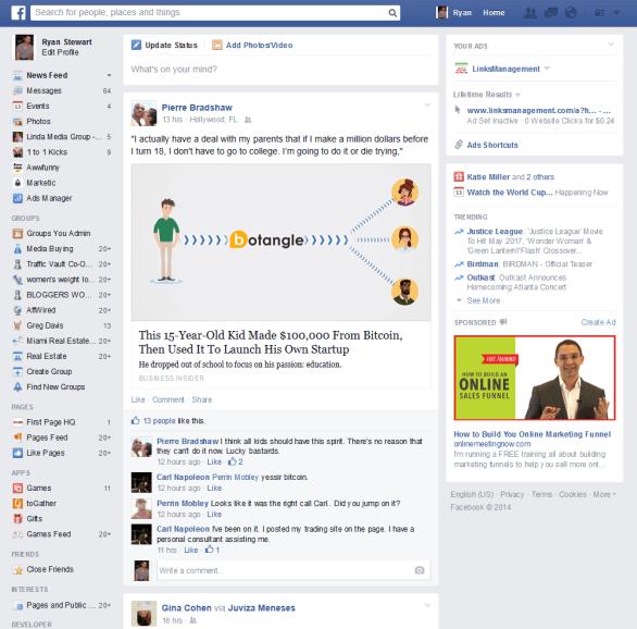 Facebook Homefeed
