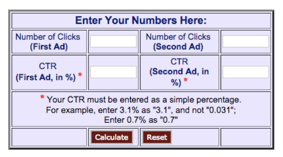 Splittester.comè uno strumento efficace (e gratuito) per valutare i risultati dei vostri test A/B