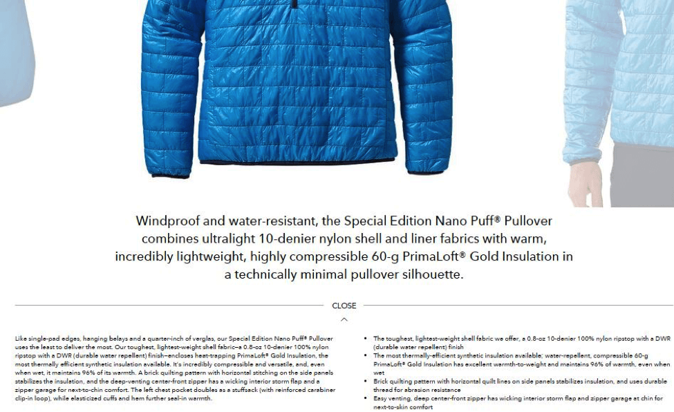 patagonia-product-description