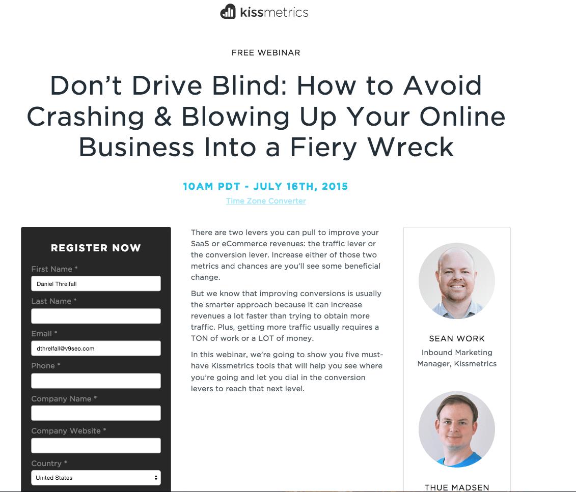 kissmetrics-don't-drive-blind-webinar-landing-page