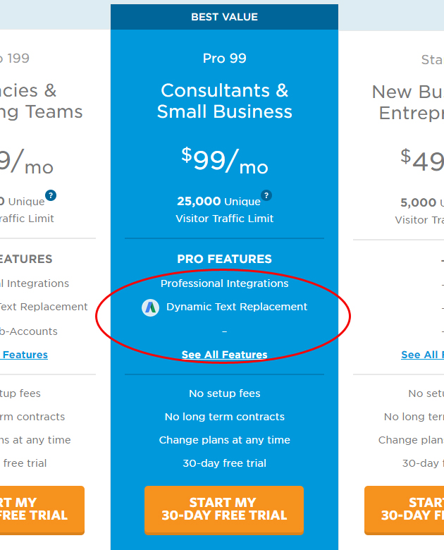 unbounce-dynamic-text-replacement-pricing-page