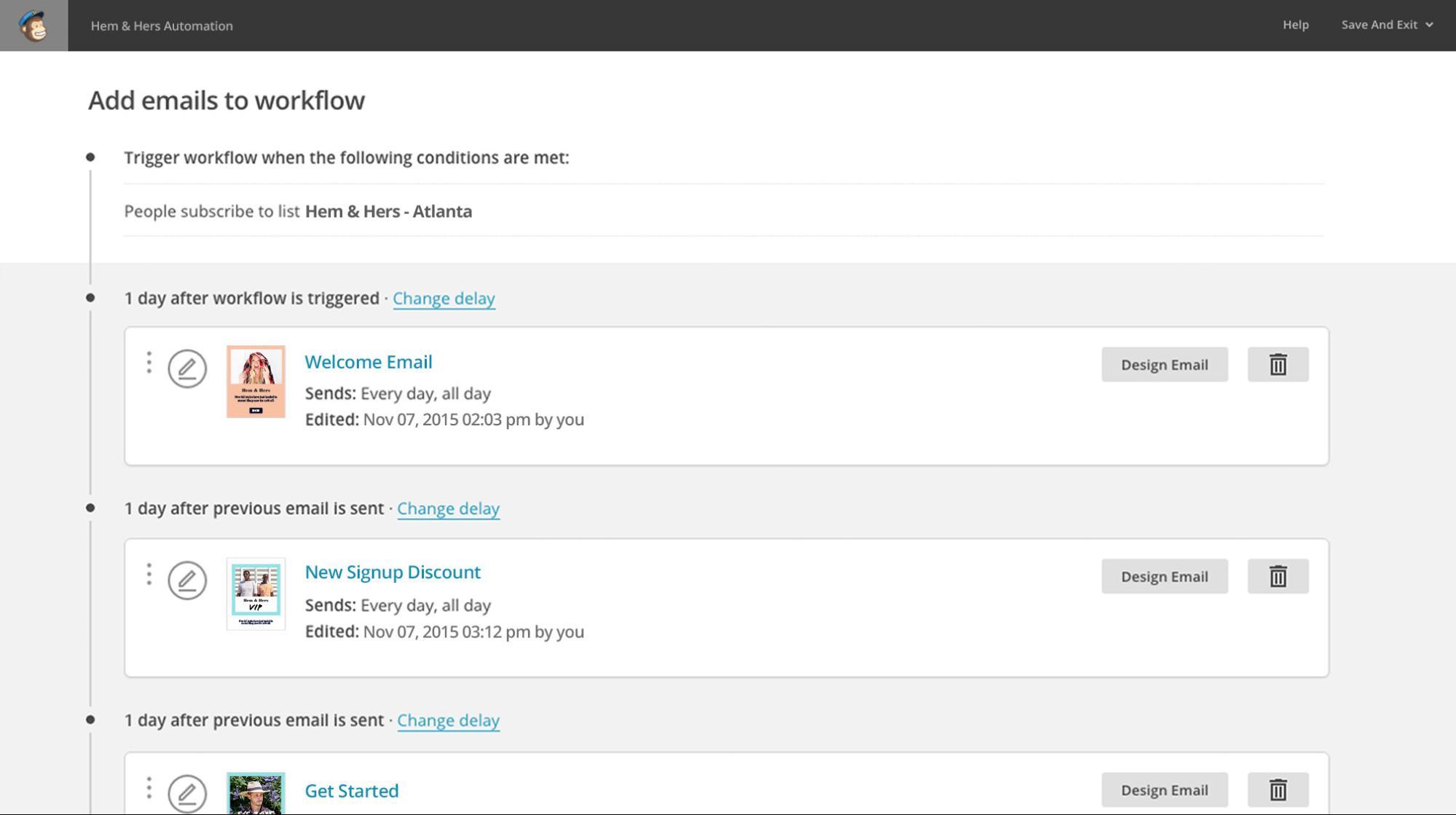 mailchimp-email-workflow