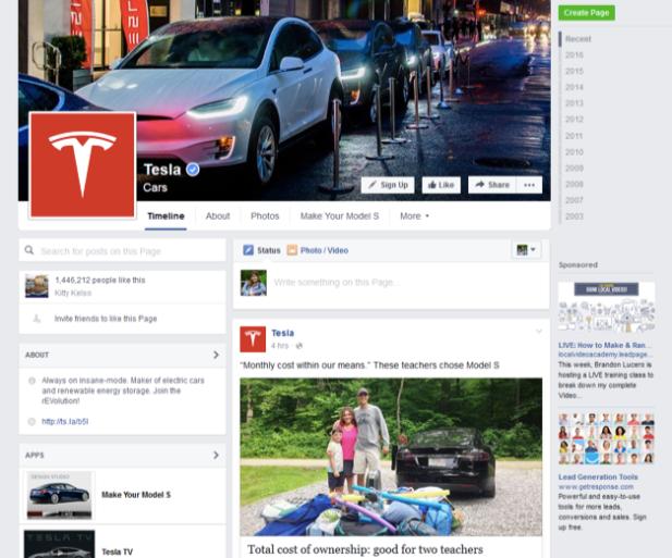 tesla-motors-facebook-page