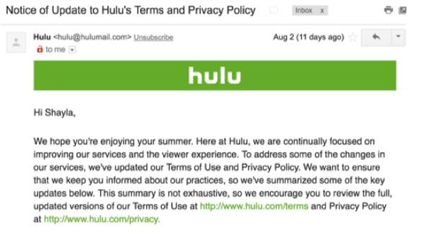 hulu-terms-and-privacy-emails