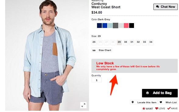 american-apparel-low-stock-alert