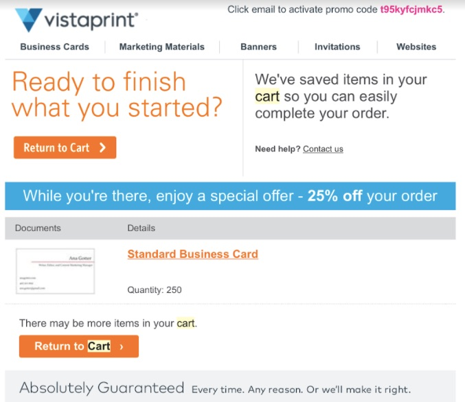vista-print-return-to-cart