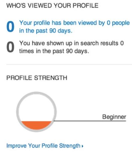 linkedin incomplete profile