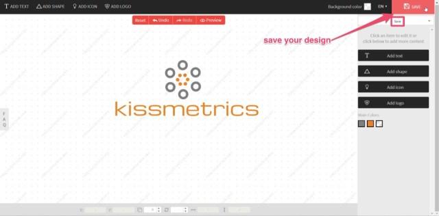 save your design logo creation